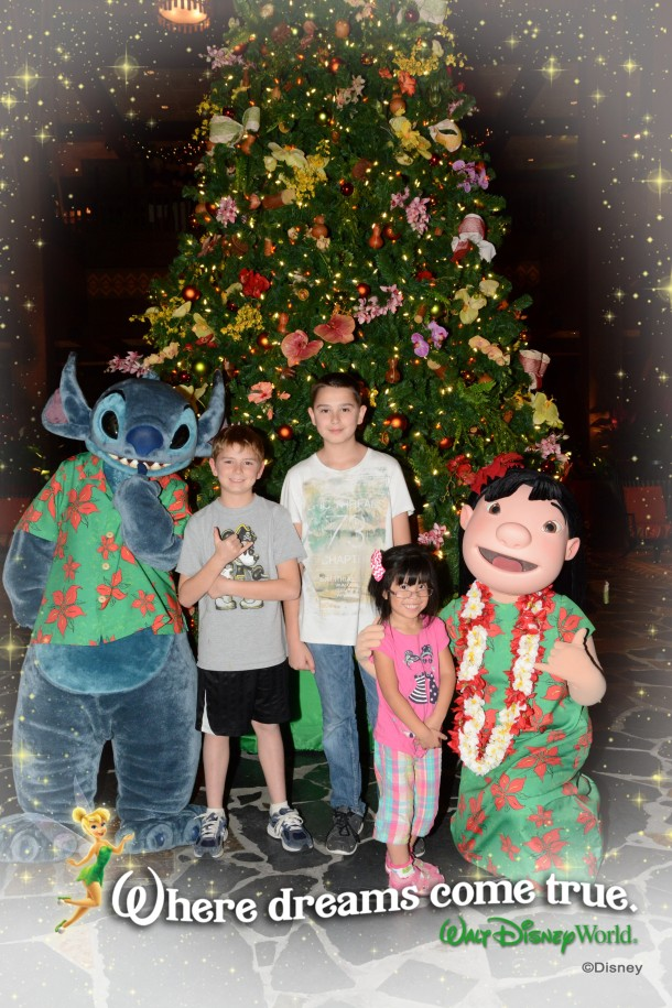 lilo and stitch at the Polynesian Resort